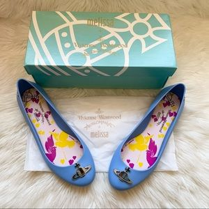 New VIVIENNE WESTWOOD Logo Space Love Jelly Flats
